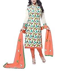 Balaji Fashion World Women's Cotton Unstitched Dress Material (BFW-5093-1_Multicolor_Free size)