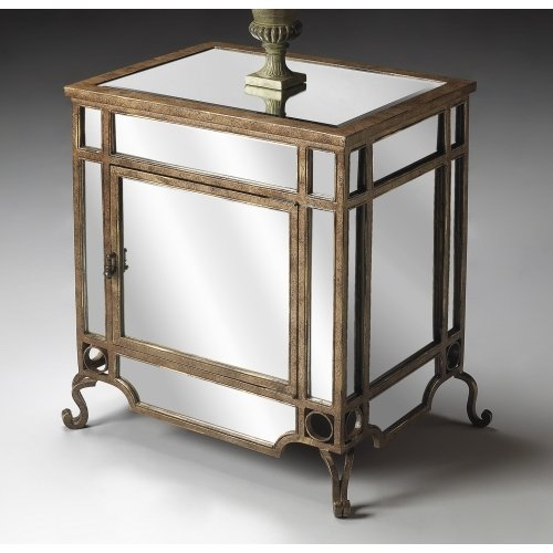 Image of Butler Specialty 4041146 Chair End Table, Mirror (B002AE42BW)