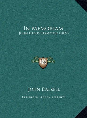 In Memoriam: John Henry Hampton (1892)