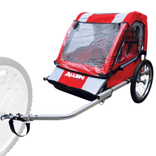 Allen Sports 2-Child Steel Bicycle Trailer (Red) (Bike Trailer Folding compare prices)