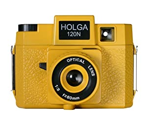 Holga 176120 Brick Road  Holgawood Collection Plastic Camera (Yellow)