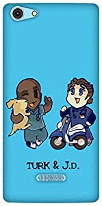 The Racoon Grip Turk and JD hard plastic printed back case / cover for Micromax Canvas Selfie 3 Q348