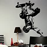 Skateboarding Boys Wall Transfer / Big Wall Art Decor / Boys Wall Sticker ne37