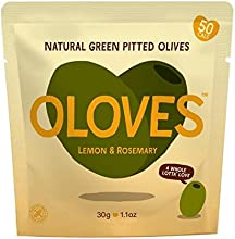 Oloves limón y romero marinado aceitunas verdes sin hueso 30 g