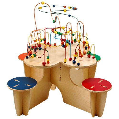 Anatex Fleur Table with 4 Attached Stools - 1
