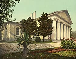 Custis-Lee Mansion (Arlington House) - Lee's Former Home - 16x20-inch - Alluring Fine-Art-Quality Photographic Print of an Image from the Library of Congress Collection