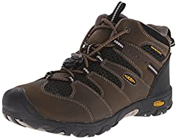 KEEN Koven Mid WP Hiking Boot (Little Kid/Big Kid), Cascade Brown/Black, 1 M US Little Kid