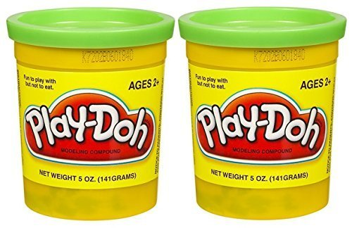 PLAY-DOH Compound Bright Green - Two, 5 oz Cans (10 oz) - 1