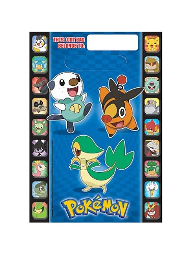 Pokemon Loot Bags Favor Treat Birthday Party Supplies (8)