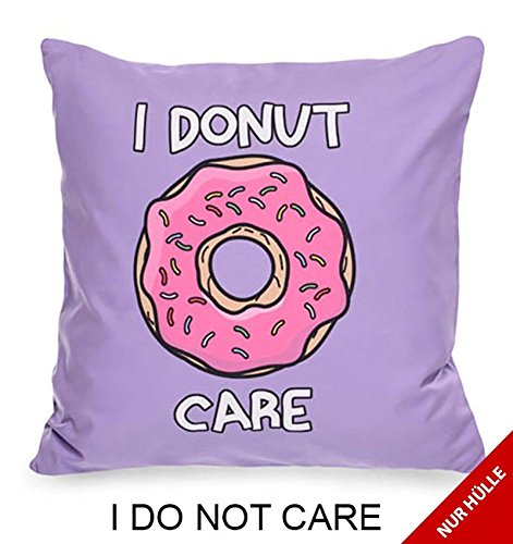 Cuscino decorativo cuscino home Accessoire 50 x 50 cm by Johnny Chicos, Cotone, I Donut Care (Nur Bezug), 50 x 50 cm