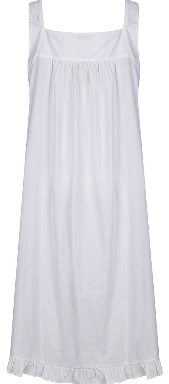 The 1 for U Nancy 100% Cotton Victorian Sleeveless Nightgown 7 Sizes 1
