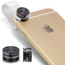 Neewer Clip-On 3 Element 3 Group 20X Macro Lens for Apple iPhone 6 plus/6/5/5S/4/4S iPad Air 2/1 iPad 4/3/2 iPad Mini 3/2/1 Samsung Galaxy S6 Edge/S6/S5/S4/S3/A7/A5 Galaxy Note 4/3/2 Blackberry Bold Touch Sony Xperia Motorola Droid and Other Smart Phones