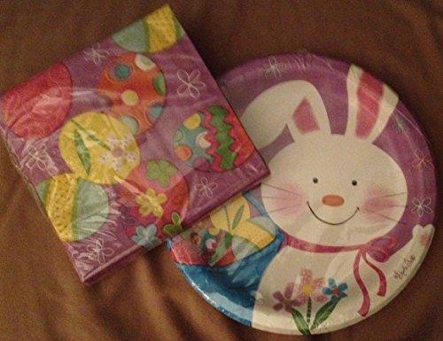 """Bunny Juggle Bundle 1 pkg 18 beverage napkins + 1 pkg 8 6/7/8"""" plates - 1"""