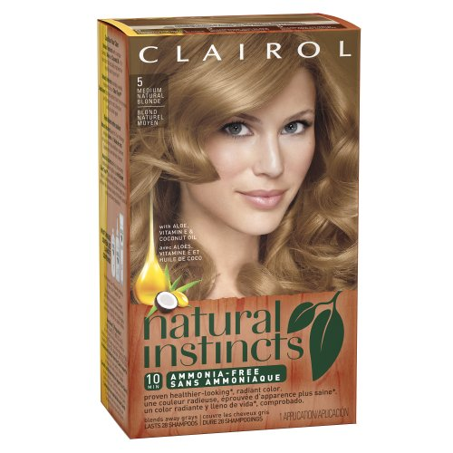 Clairol Natural Instincts 5 Medium Natural Blonde 1 Kit