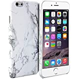 iPhone 6 Case, GMYLE Snap Cover Glossy for iPhone 6 (4.7 inch Display) - White Marble Pattern Slim Fit Snap On Protective Hard Shell Back Case