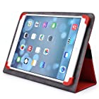 Kroo Universal Multi Fit 8 to 10 Inches Tablet Folio Case, Red (MU10EXR1-8360)