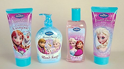 Disney Frozen Bath Set(Frosted Berry Shampoo, Bubble Bath, Body Lotion, And Hand Soap) - 1