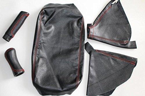 BLACK STITCH TOP GRAIN LTHR SHIFT E BRAKE BOOT FOR BMW MINI COOPER R55 R56 R57