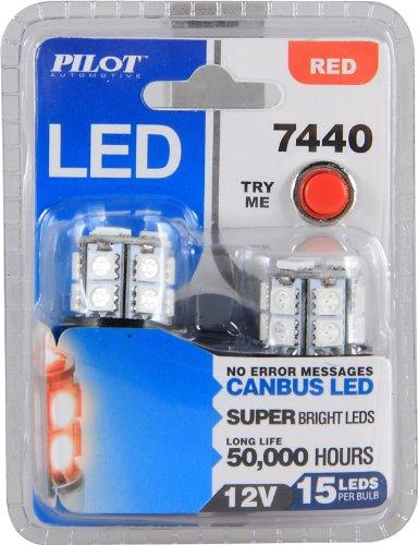 Pilot Automotive (Il-7440R-15) Red 15-Smd Led Stop/Tail Light Bulb - 2 Piece