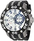 Jason Taylor for Invicta Collection 12948 Reserve Chronograph Silver Sunray Dial Black Polyurethane Watch
