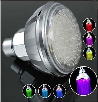 Top Elecs bunte 7 Farben ändern automatisch Glow LED Top-Spray Duschkopf für Badezimmer Küche mit Dusche Düse 83mm Höhe 90mm LD8010-A2 (C)