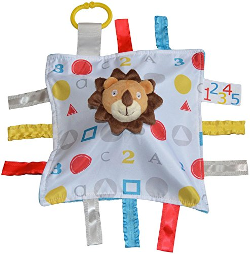 Baby Jack Blankets Baby Jack Blankets ABC Sensory Educational Lion Tag Blanket