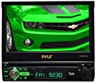 Pyle PLBT72G 7-Inch Single DIN In-Dash Motorized Touchscreen LCD Monitor with DVD/CD/USB/SD