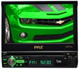 Pyle PLBT72G 7-Inch Single DIN In-Dash Motorized Touchscreen LCD Monitor with DVD/CD/USB/SD, AM/FM/Bluetooth,... by Pyle