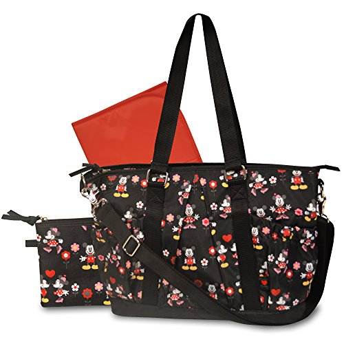 Disney Deluxe Rip Stop Diaper Tote Bag, Mickey and Minnie Mouse - 1