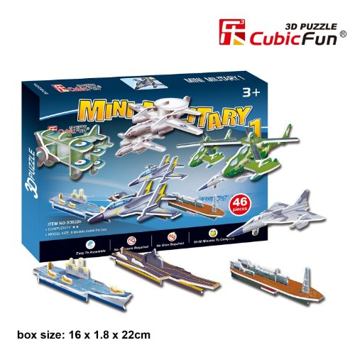 CubicFun S3022H Mini Military Series #1 Puzzle