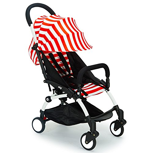 Aiqi-Travel-System-strollers-Easy-Travel-lightweight-stroller-Red