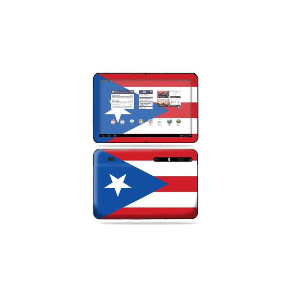 Protective Vinyl Skin Decal Cover for Motorola Xoom Tablet sticker skins PuertoRican Flag