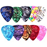 10 X Lindo Stylish Colourful Mixed Guitar Picks Plectrums - 0.46mm, 0.58mm, 0.72mm and 0.96 mm