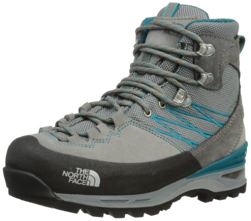 The North Face - Stivali da neve Verbera Lightpacker GTX, Donna, Grigio (Griffin Grey/Flamenco Blue), 37.5