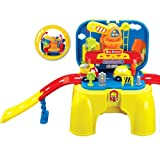Portable Battery Operated Little Engineer Pretend Play Toy Set Storage Work Bench With Lights And Sounds For Kids...