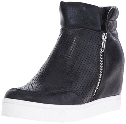Steve Madden Women's Linqsp Fashion Sneaker, Black, 8 M US
