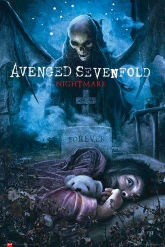"""1art1 54464, Poster """"Avenged Sevenfold - Nightmare"""", 91 x 61 cm (lingua inglese)"""