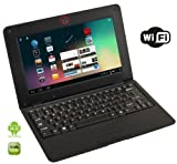 Best Selling Netbooks:  WolVol BLACK 10 inch Laptop with WIFI and Camera (Android 4.2, Dual Core Processor, 8 GB HD)