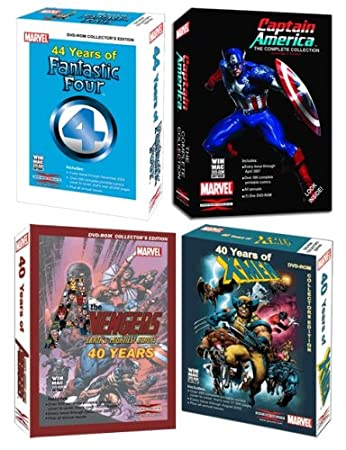 Marvel Comics Avengers, X-Men, Fantastic Four & Captain America DVD-ROM Bundle