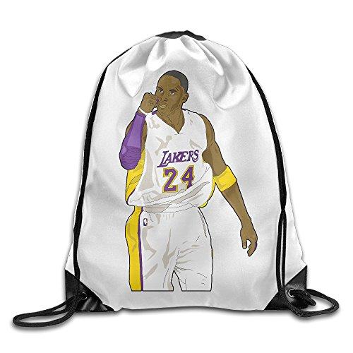 WLF Men's Women's Print Shoulder Drawstring Bag Port Bag Backpacks String Bags School Rucksack Gym Bag BLACK MAMBA White. (Jansport Trolley Bags compare prices)
