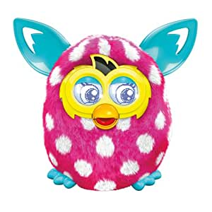 Furby Boom Sunny Electronic Plush Pink and White Polka Dots