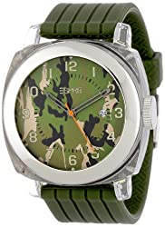 Esprit Cube Water-Resistant Analog Green Dial Mens Watch ES900631003