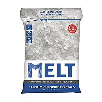 Snow Joe MELT50CC Melt Calcium Chloride Crystals Ice Melter Resealable Bag, 50-Pound
