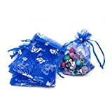 Yiuswoy 7 Cm X 9 Cm Butterfly Organza Drawstring Bags Wedding Gift Pouches,Jewelry Candy Mini Gift Pouch Bags Party Favor Bags Package of 100 - Royal Blue