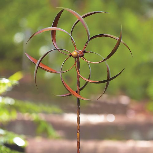 """Kinetic Feathered Flame Wind Spinner-22"""" - Improvements"""