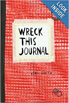 Wreck This Journal in red