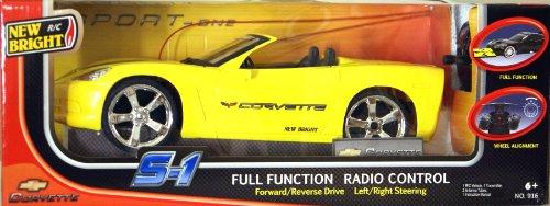New Bright - 1:16 Radio Control Yellow Corvette S-1 R/C CAR