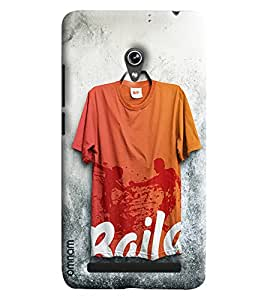 Omnam Tshirt With Baila Printed Hanging On Wall Designer Back Cover Case For Asus Zenfone 6 A600CG