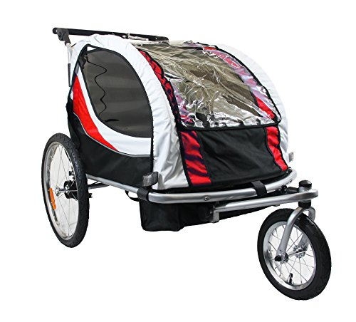 Buy Discount New Clevr Deluxe Child Bicycle Trailer Baby Bike Kid Jogger Red Running Carrier