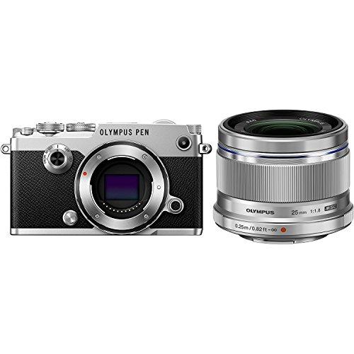 OLYMPUS ミラーレス一眼 PEN-F Body SLV + 単焦点レンズ M.ZUIKO DIGITAL 25mm F1.8 シルバーセット